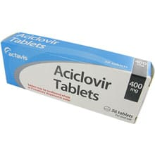 Aciclovir, 56 Tablets, Manufactured by Actavis, 200mg and 800mg Dosages