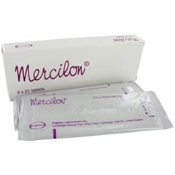 Box of Mercilon tablets with blister packs