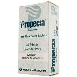 Calendar pack of Propecia 1mg finasteride film-coated tablets